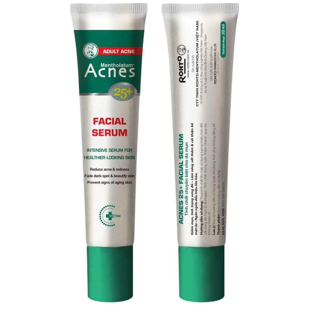serum acnes 25+ facial serum giúp trị mụn hiệu quả và ngăn ngừa lão hóa cho da tuổi trưởng thành, bảo vệ da khỏi tác hại của môi trường bên ngoài