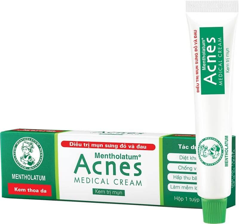 Kem trị mụn Acnes Medical Cream chuyên trị mụn sưng đỏ và đau như mụn bọc, mụn mủ, mụn nang. Giúp bạn trị mụn bọc tại nhà