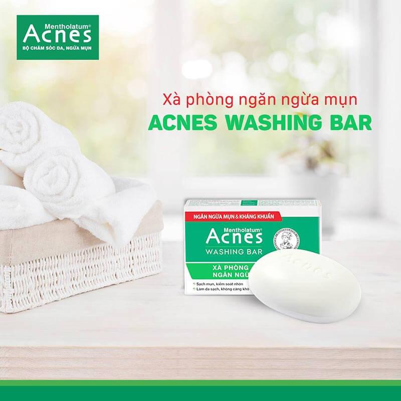 xa phong tri mun ngan ngua mun hieu qua acnes washing bar