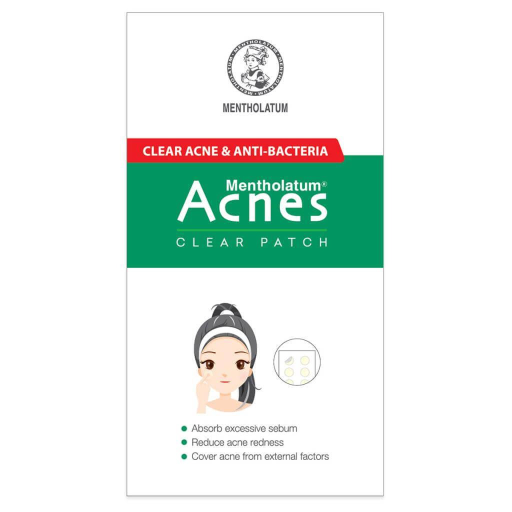 acnes clear patch la mieng dan mun mong va trong suot khong lo ro khi trang diem, giup hut mu va gom kho coi mun nhanh chong