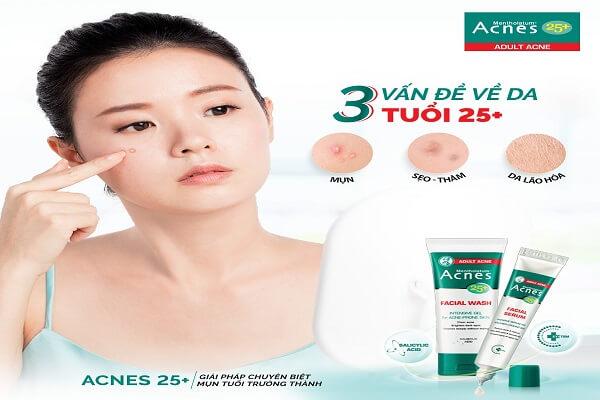 Gel Rửa Mặt Ngăn Ngừa Mụn Acnes là gợi ý hoàn hảo hỗ trợ da mụn tuổi trưởng thành