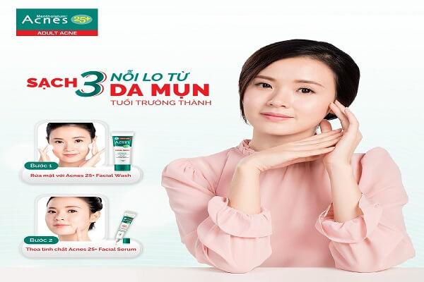Acnes 25+ Facial Wash giúp trẻ hóa làn da