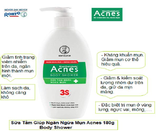 Sữa tắm dưỡng da ngừa mụn Acnes Body Shower