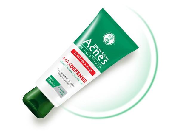 Sữa rửa mặt ngăn ngừa mụn Acnes Anti-Blackhead Cleanser And Mask