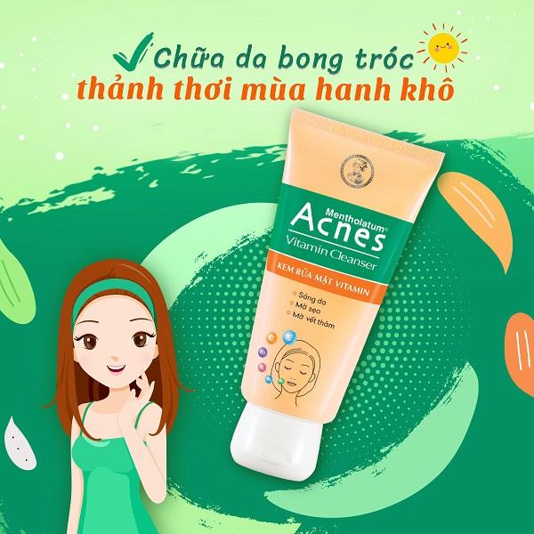 Acnes Vitamin Cleanser- Ngon, bổ, rẻ cho làn da sau mụn