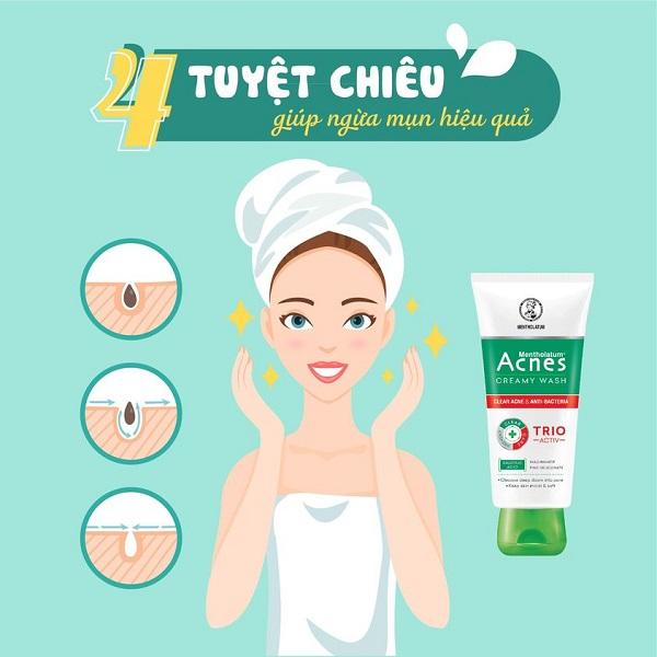Acnes Creamy Wash - Giải pháp cho làn da mụn