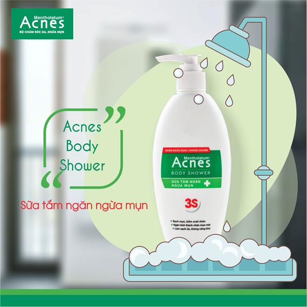 Sữa tắm Acnes Body Shower - Người bạn đồng hành đáng tin cậy