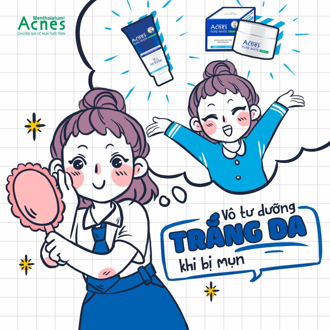 Acnes Pure White Cream là một gợi ý hoàn hảo