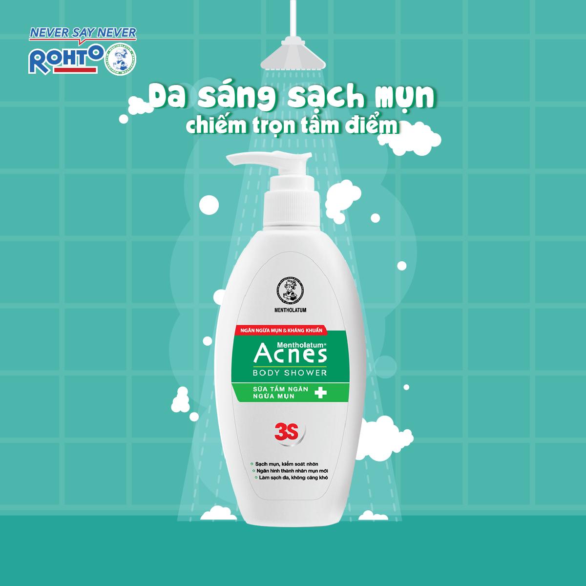Acnes Body Shower với hương thơm dịu nhẹ, làm sạch sâu
