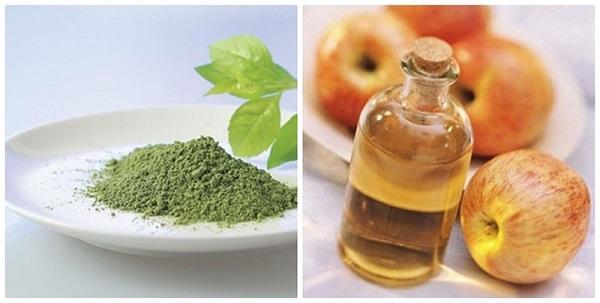 Combo trở thành khắc tinh của mụn cho tuổi dậy là bột trà xanh và giấm táo