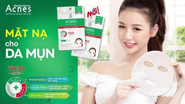 Mặt nạ Anti Acne Mask chuyên biệt dành cho da mụn với công thức TRIO ACTIV đột phá