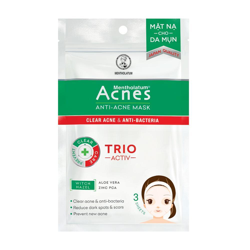 Mặt nạ Anti Acne Mask giúp làm dịu vùng da mụn hiệu quả