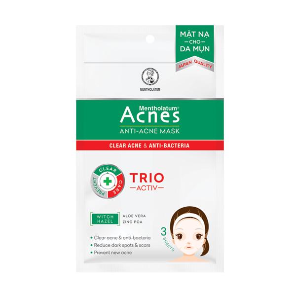 Sử dụng mặt nạ Acnes - Anti Acne Mask điều trị mụn ở trên da